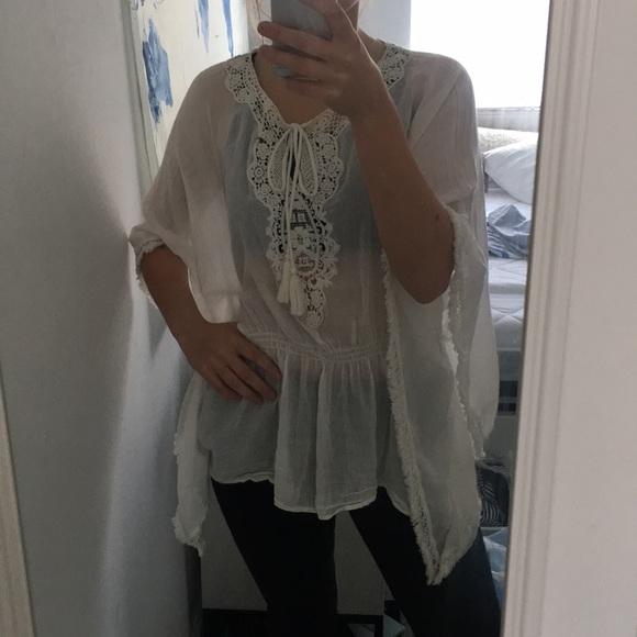 a020dc39935339 Zara Tops | Big Sleeved Blouse | Poshmark